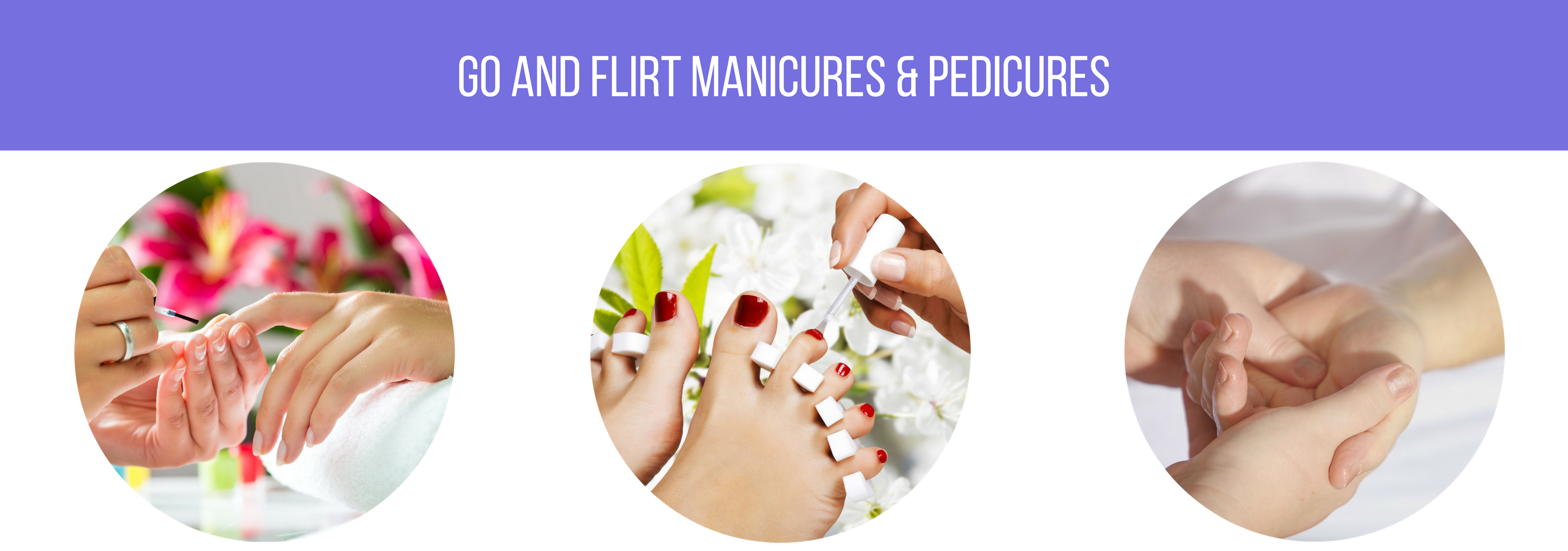 Manicures pedicures go flirt spa nail salon pamper yourself with a relaxing manicure and pedicure with additional treatment options like collagen gloves for hydration solutioingenieria Choice Image